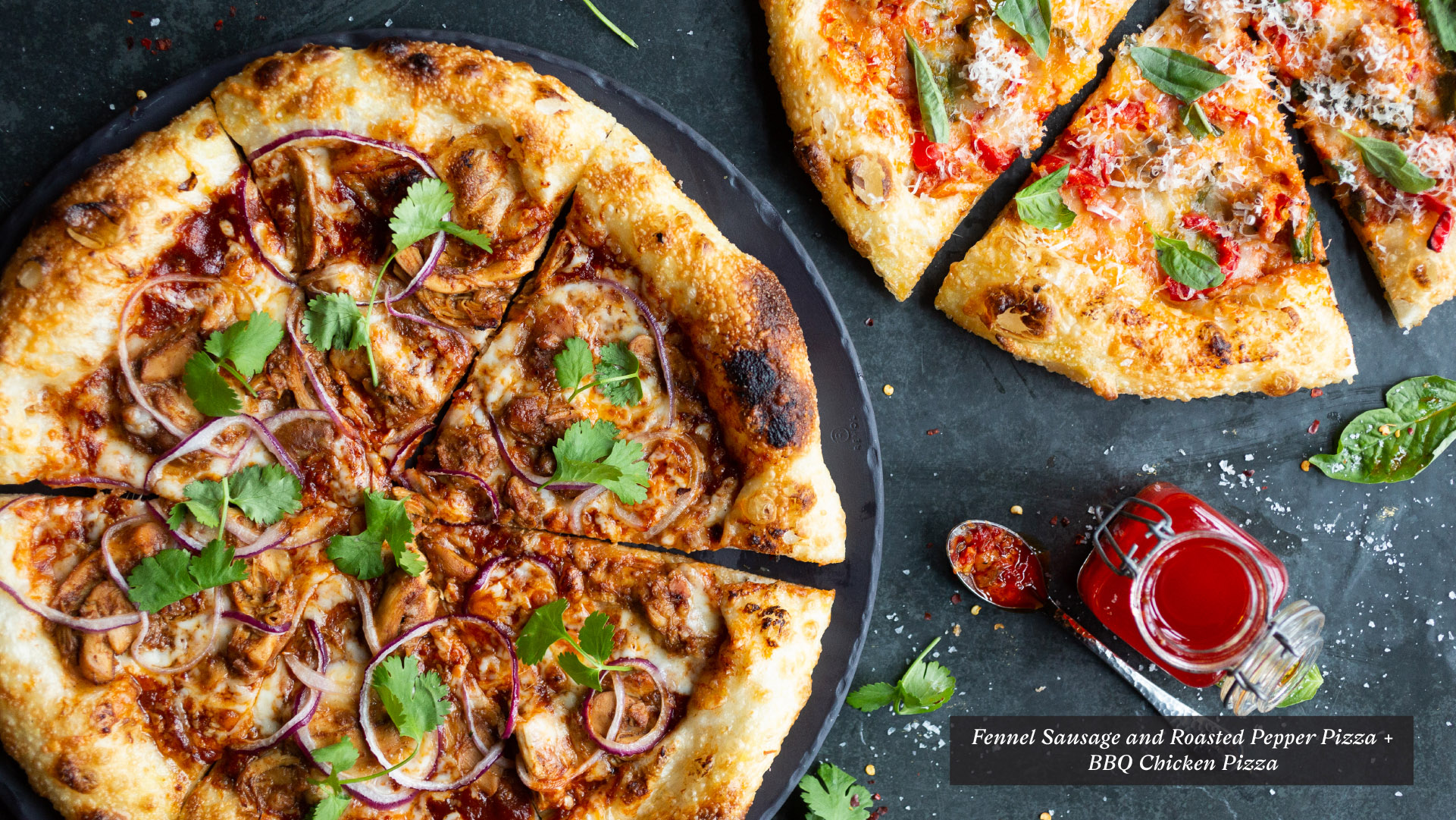 BBQ Chicken Pizza and Fennel Sausage Pizza | King Taps