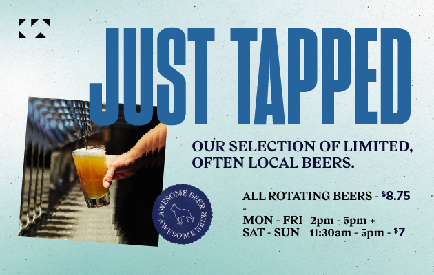 Just Tapped rotating beers | king taps